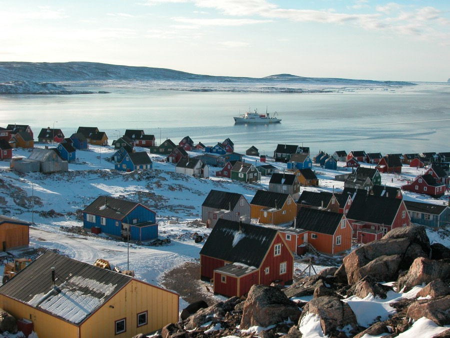 Colourful houses of Ittoqqortoormiit, East Greenland, Scoresby Sund