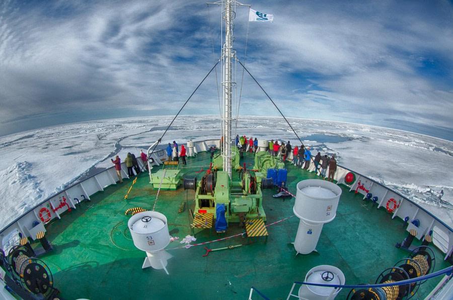 Ortelius in pack ice, Spitsbergen