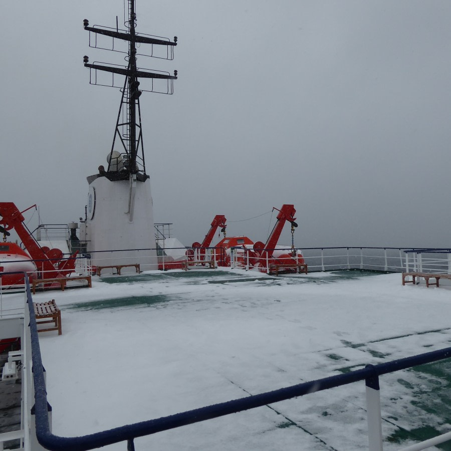 into the Ross Sea
