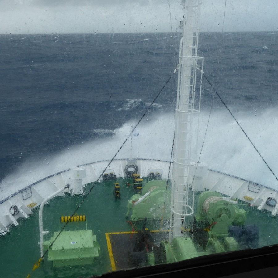 at sea towards Campbell Island