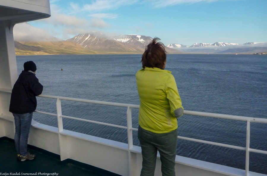 Einschiffung in Longyearbyen, Isfjord