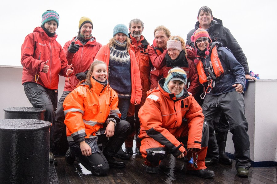 Ausschiffung in Longyearbyen, Adventfjord