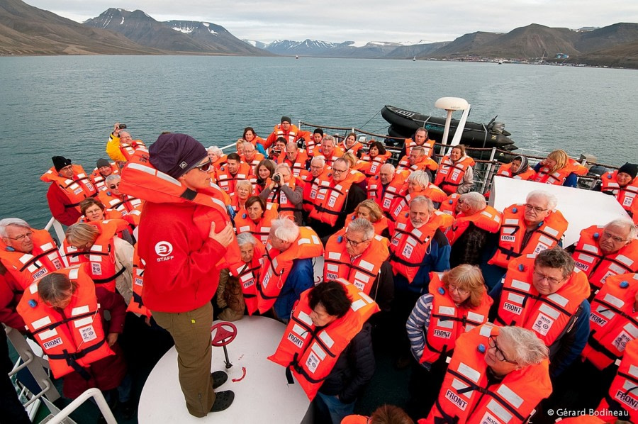 Einschiffung in Longyearbyen, Adventfjord