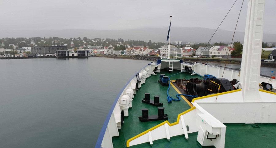 Einschiffung in Akureyri