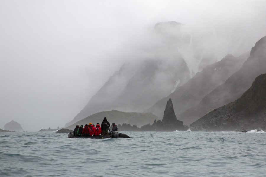 Zodiac cruise amidst misty scenery, Cape Lookout, Elephant Island © Margaret Welby - Oceanwide Expeditions.jpg