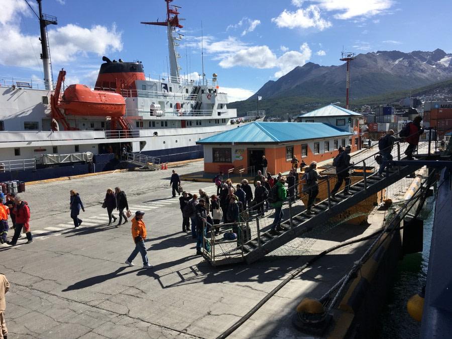 Embarkation -Ushuaia, Argentina