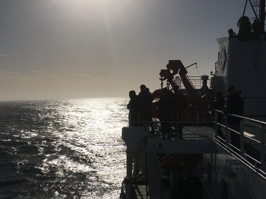At sea to the Falkland Islands