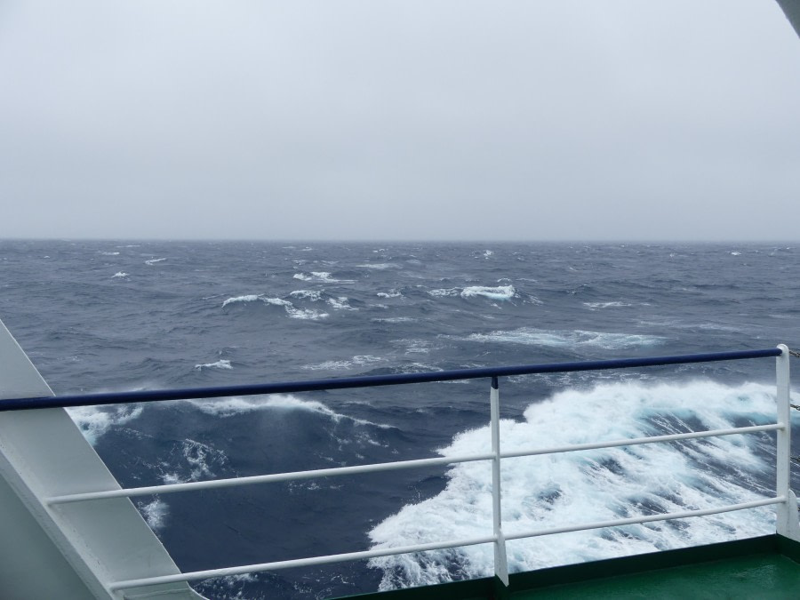 At sea in the Southern Ocean