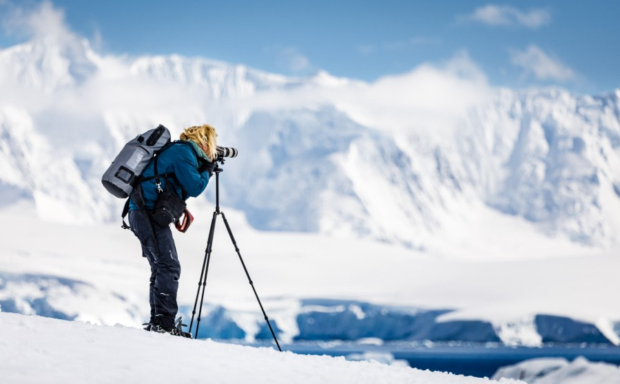 Passenger taking pictures at Damoy Island, Antarctica © Max Draeger - Oceanwide Expeditions.jpg