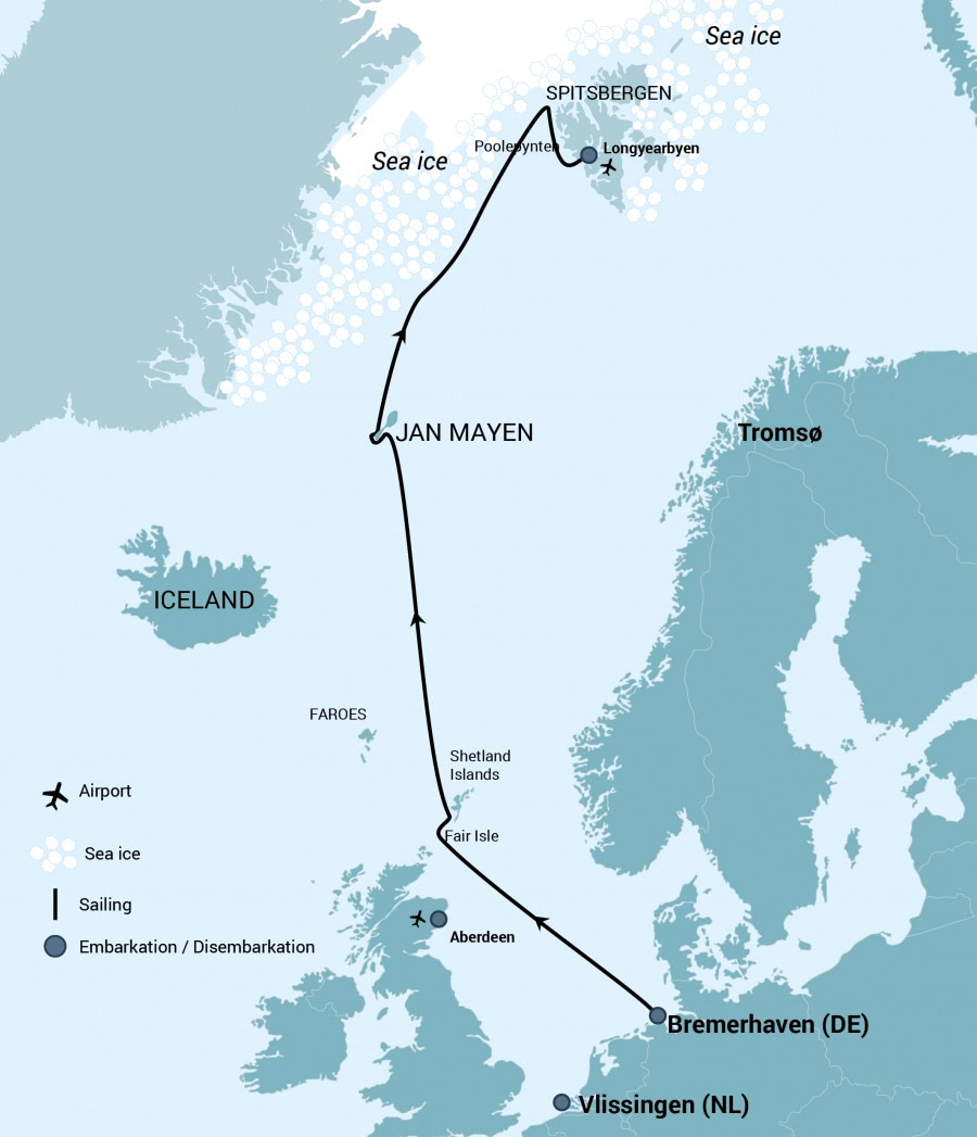 Cruise route