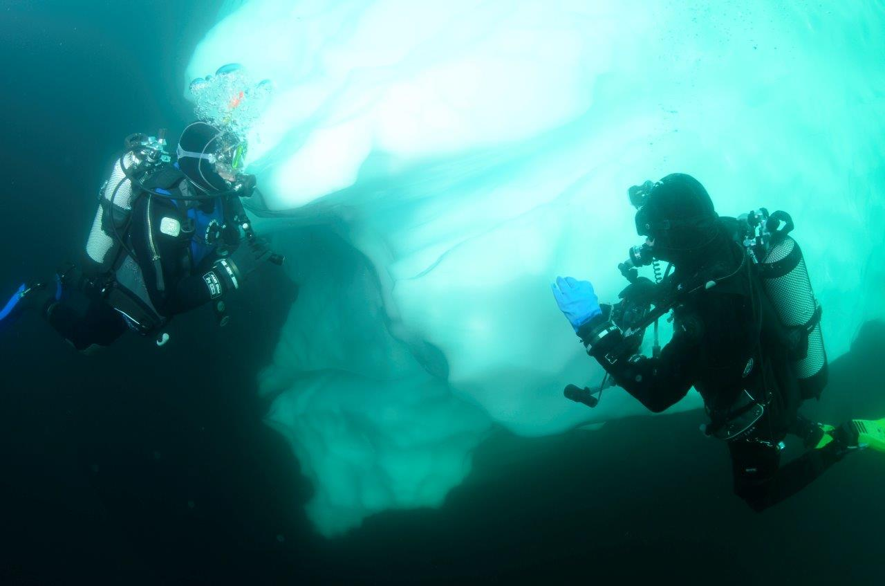 Polar Diving, Antarctica, 2 divers