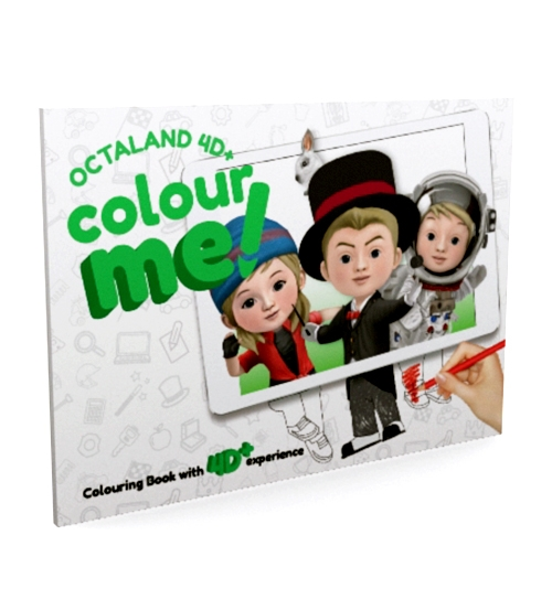 Octaland 4D+ Color Me! Book