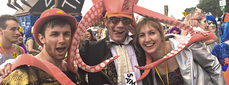 Octopuses abound at Glastonbury