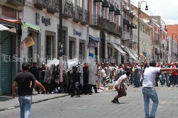 Balacera en la zona centro de Puebla