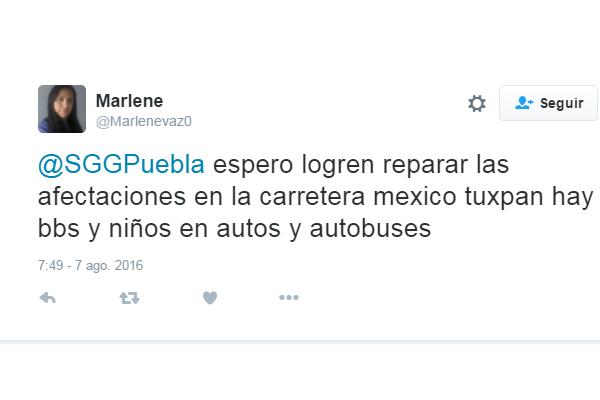 Reabierta circulación en autopista México-Tuxpan afectada por lluvias