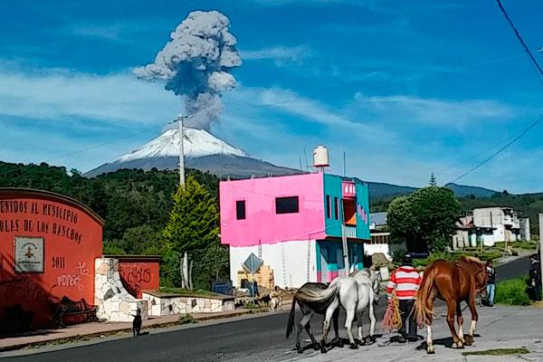 Imágenes del volcán Popocatépetl