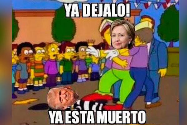 Memes del debate presidencial entre Clinton y Trump