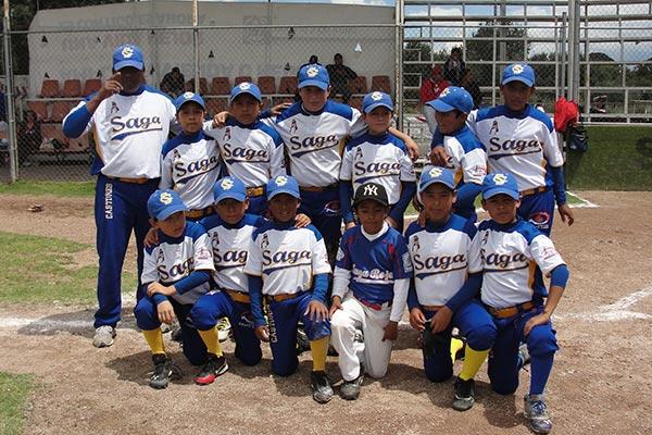 Castorcitos Saga, campeón en beisbol de la liga infantil y juvenil de Apizaco