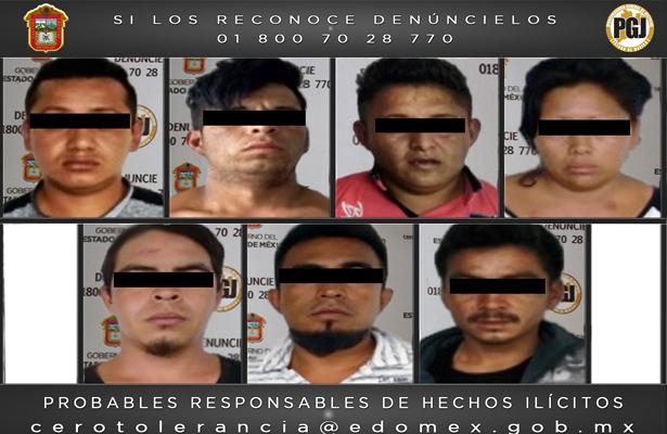 PGJEM capturó a siete presuntos secuestradores, entre ellos hay una mujer