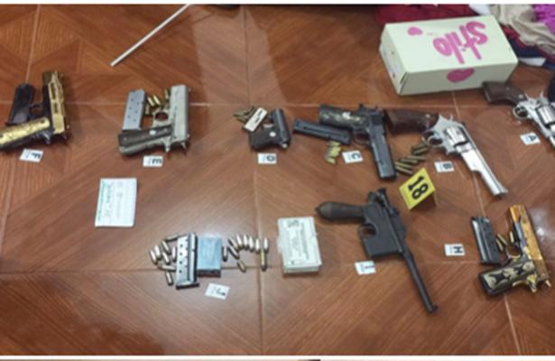 Asegura la PGR armas y dinero en Neza
