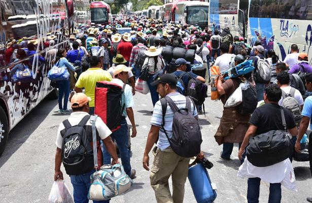 El objetivo de la CNTE es llegar al Zócalo en la tarde