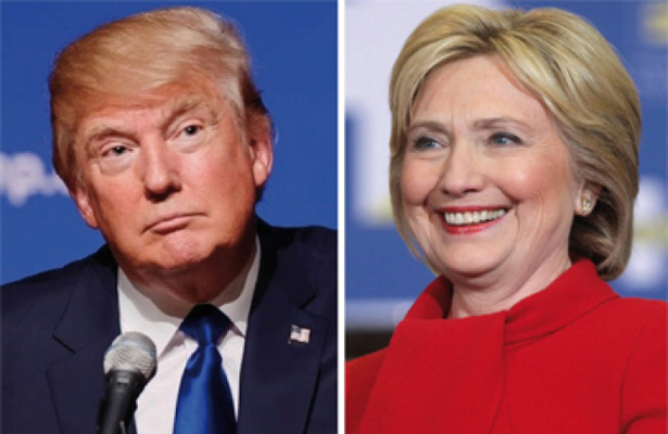 Clinton aventaja a Trump por sólo cuatro puntos