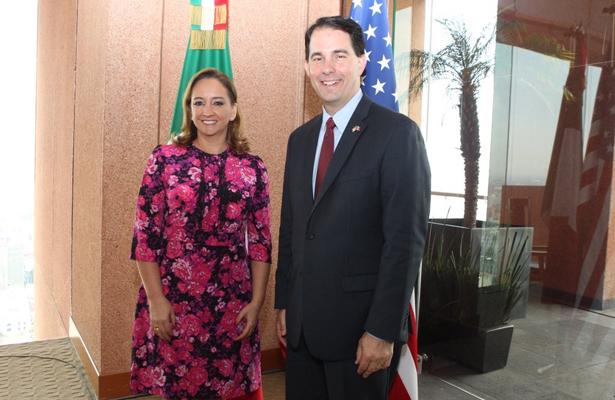 Canciller Ruiz Massieu se reunió con el Gobernador de Wisconsin, Scott Walker