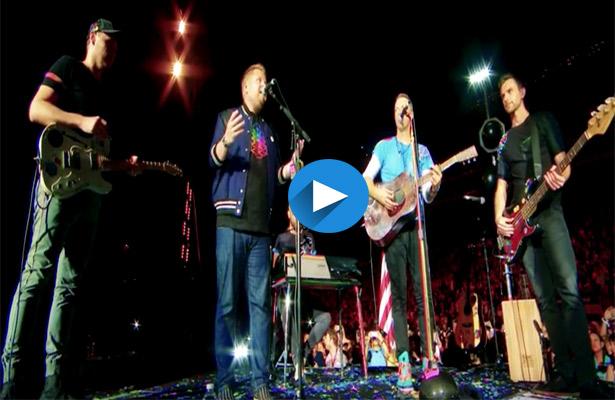 Se juntan de nuevo James Corden y Coldplay