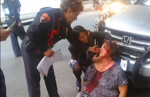 La policía rescató a mujer golpeada por su marido