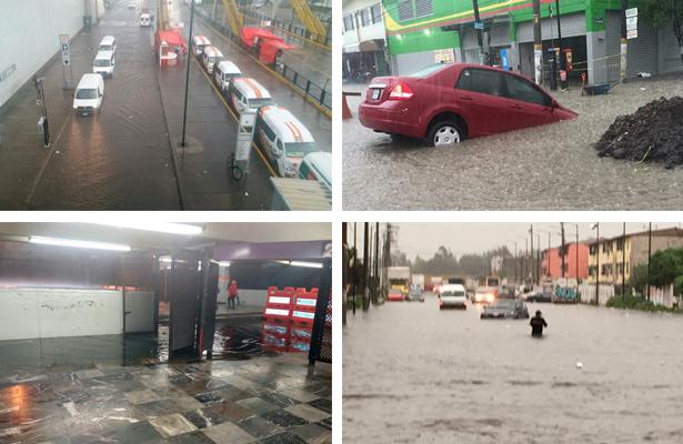 Encharcamientos, sin Metro y tránsito lento dejó la lluvia