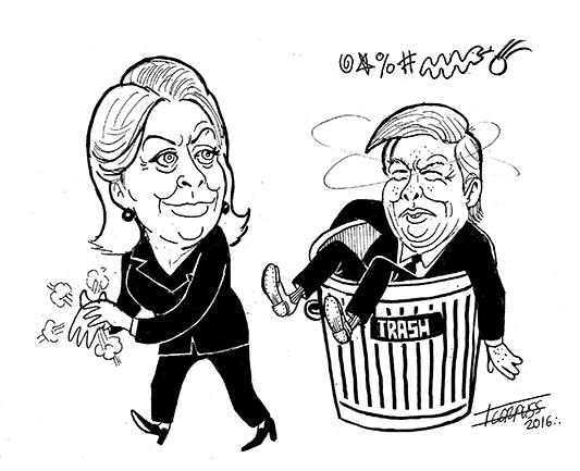 Poniendo la basura…