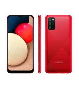 "[Magalupay + C. Ouro] Galaxy A02s 32GB Vermelho 4G - Octa-Core 3GB RAM 6,5"" Câm. Tripla + Selfie 5MP"