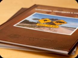 Printed travel blog