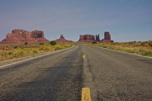 Leaving Monument Valley