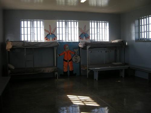 Fællescelle på Robben Island