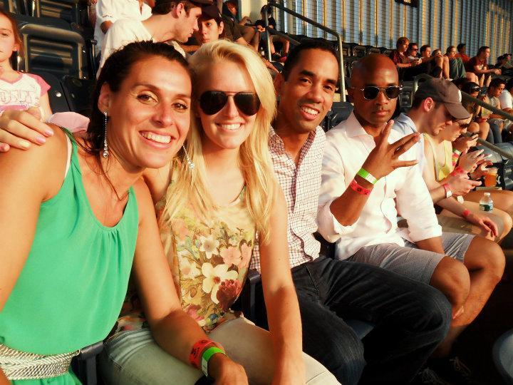 Yankees stadium met Cliff, Wayne en Judith