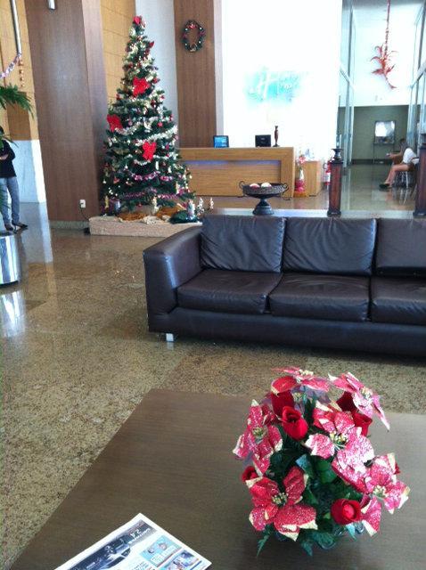 Kerstsfeer in het hotel