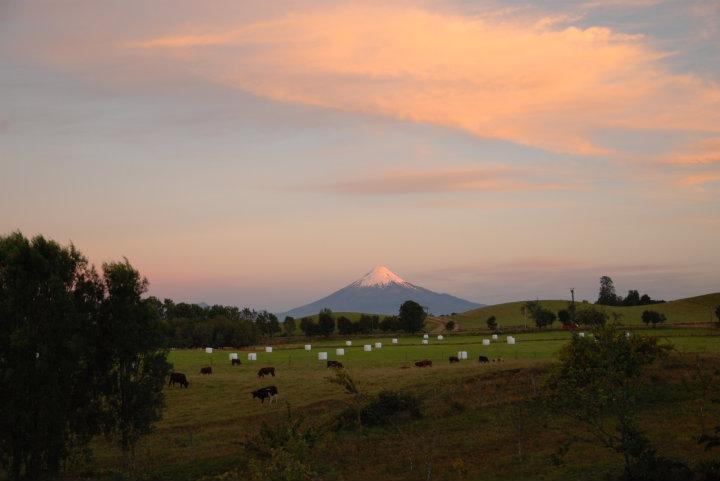 Vulkaan Osorno vanaf onze B&B