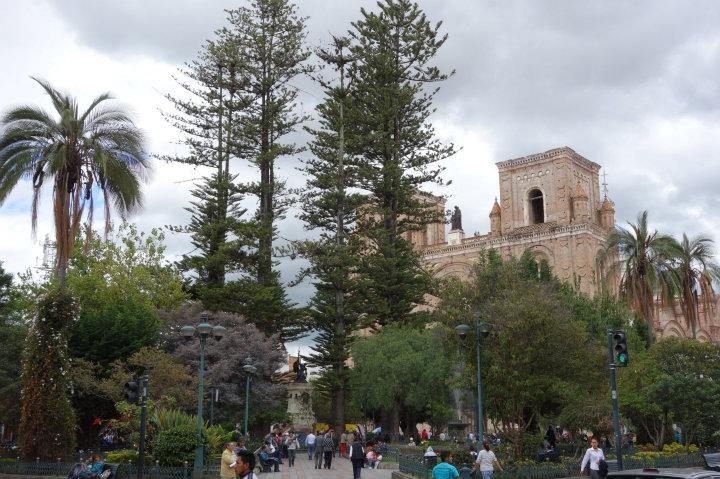 Plein met bomen in Cuenca