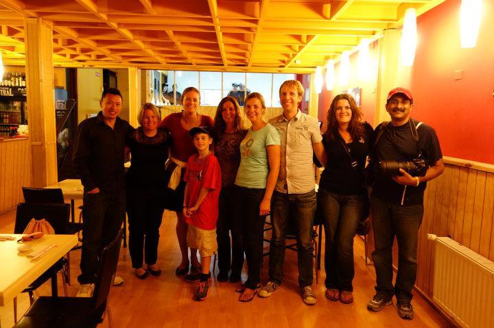Een laatste avond met nieuwe vrienden van de Antarctica-reis