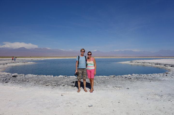 Wij bij Lago Cejar