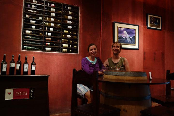 Wijnproeven bij Chato's