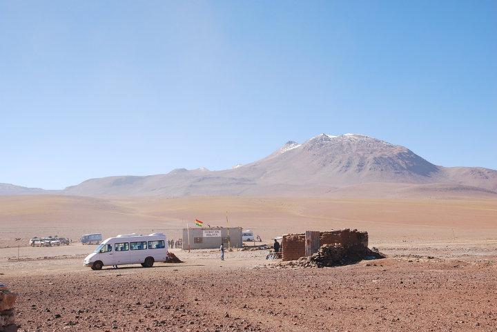 De Boliviaanse grens bij San Pedro