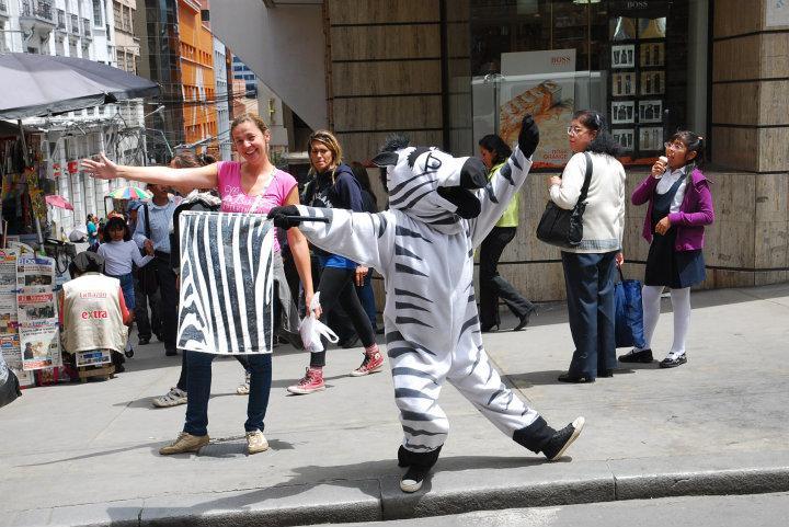 Zebra-pad in La Paz