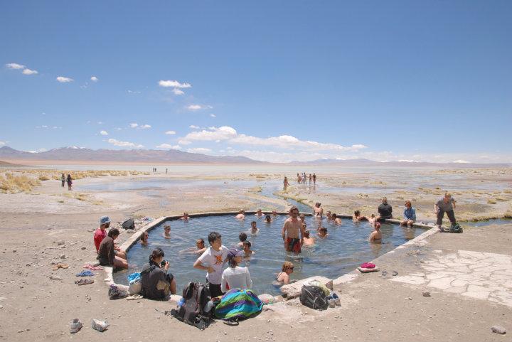 Aguas Calientes, natuurlijke heetwaterbron