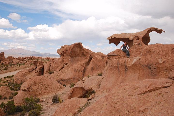 Bijzondere rotsvormen, waaronder één in de vorm van een adelaar