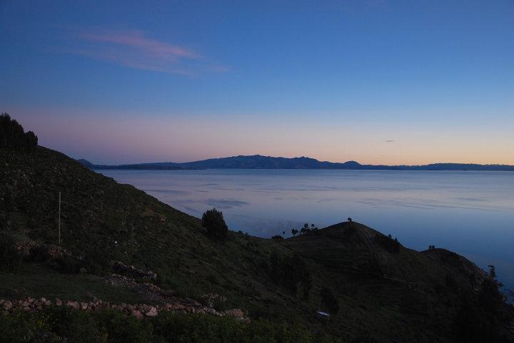 Zonsondergang op Isla del Sol