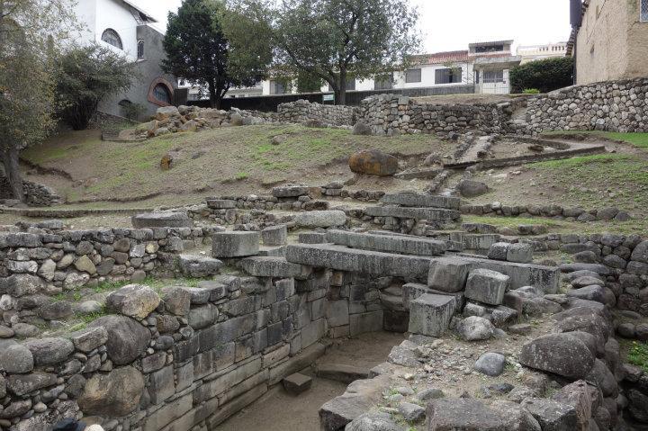 Inca-ruïnes Pumapunga in Cuenca