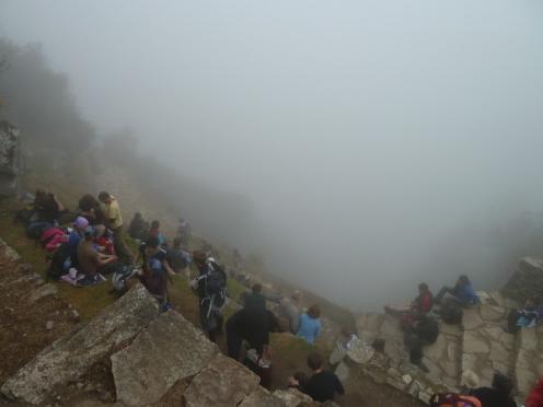 Het eerste uitzicht op Machu Picchu