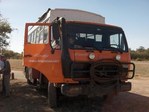 De truck die ons door Argentinië rijdt